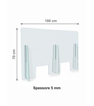 Parafiato - Protezione in Plexiglass spessore 5 mm cm 100x70