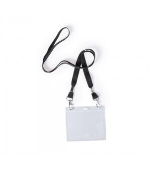 Porta Badge in PVC con lanyard con chiusura metallica a moschettone
