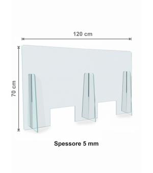 Parafiato - Protezione in Plexiglass spessore 5 mm cm 120x70