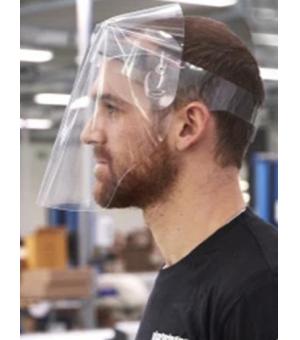 Visiera protettiva integrale in PVC 250 micron