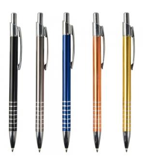 Penne personalizzate a scatto colorate alluminio