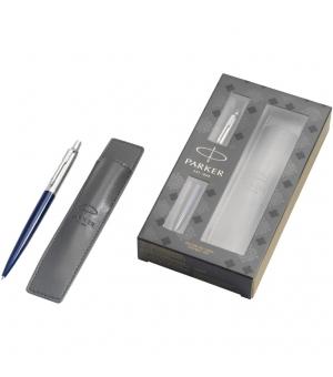 Penne personalizzate Parker Jotter blu royal con pouch set