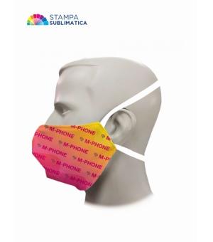 Mascherina in sublimazione -  doppio strato con elastici per la testa