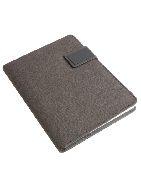 tech organizer in tessuto mélange con quaderno A5