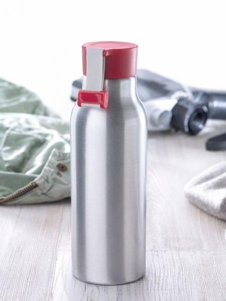 Borraccia alluminio con tappo colorato 500 ml
