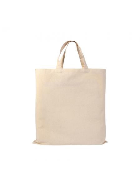 Shopper Borse in cotone naturale manici corti - 135 gr - 38x42 cm