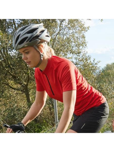 T-Shirt Ladies' Bike-T Half Zip James & Nicholson