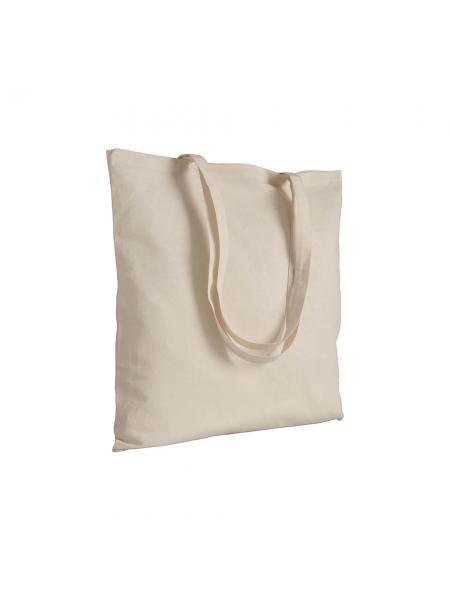 Shopper in cotone naturale 180 gr - 38x42 cm manici lunghi