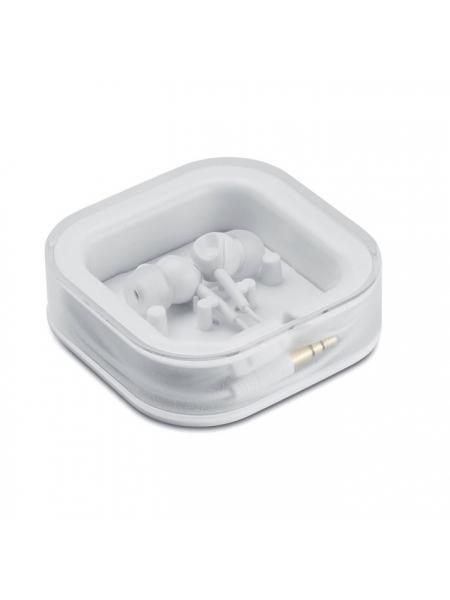 Auricolari in silicone con 2 ricambi e astuccio di plastica