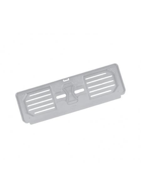 Portatarga auto personalizzato anteriore in Polipropilene silver