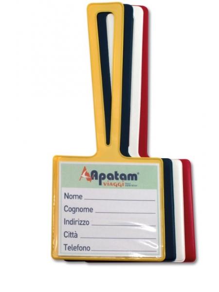 Portacartellino Valigia Maxi Orizzontale Con Taschina 11,5 x 27,5 cm