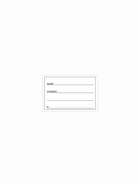 Cartoncino per Portacartellino con stampa standard 5,3  x 8 cm