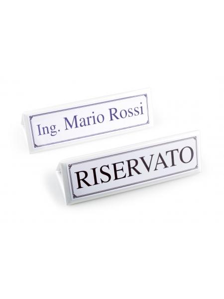 Segnaposto Maxi Classic Bianco 21,50 x 7 cm