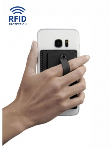 Portacarte da cellulare con cinturino Prime protezione RFID