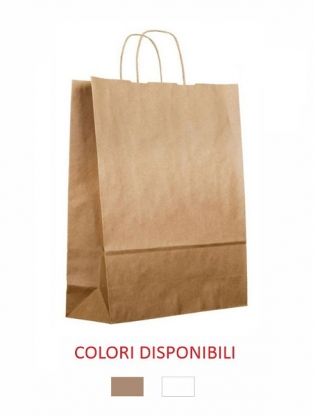Buste di carta sealing colore avana o bianco - 32x13x42,5 cm