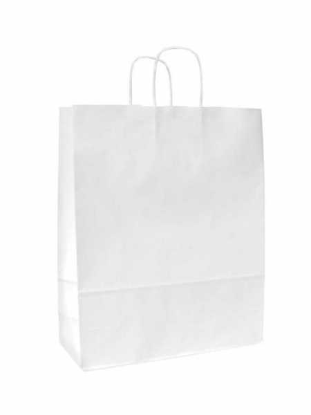 Buste in carta kraft bianca - 26x11x34,5 cm