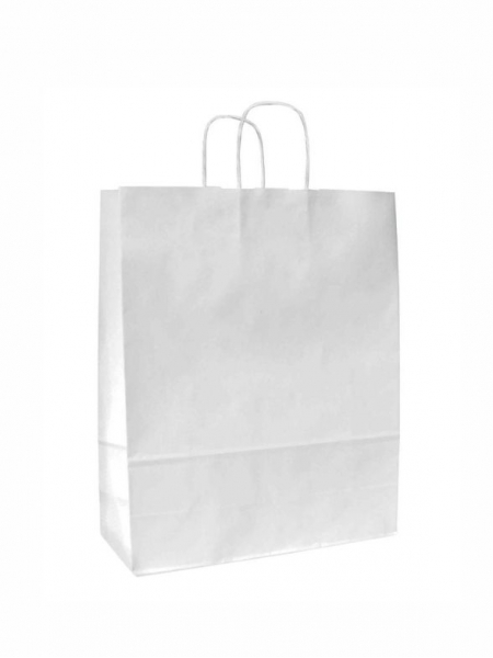 Buste in carta kraft bianca - 15x8x20 cm