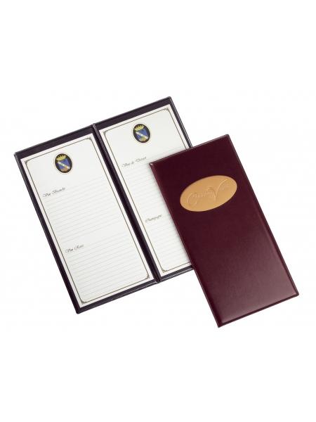 Carta dei vini 2 ante Long 16 x 34,5 cm