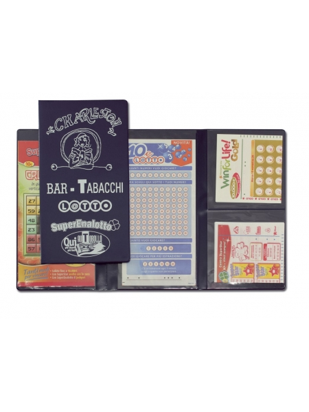Porta schedine lotto 2 ante 3 tasche
