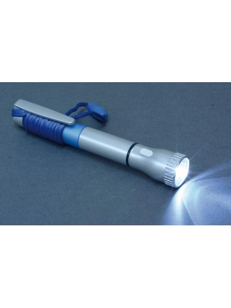 Penne in plastica argentata con luce e cordino da collo
