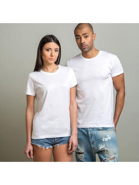 T-shirt adulto unisex girocollo bianche