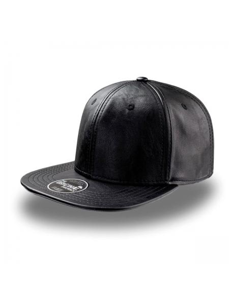 Cappellino Snap Eco Leather Atlantis