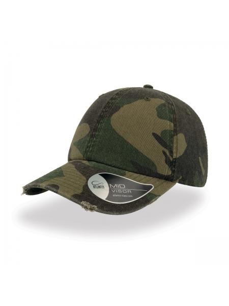 Cappellino Dad Hat Destroyed con chiusura con fibbia e foro in metallo Atlantis