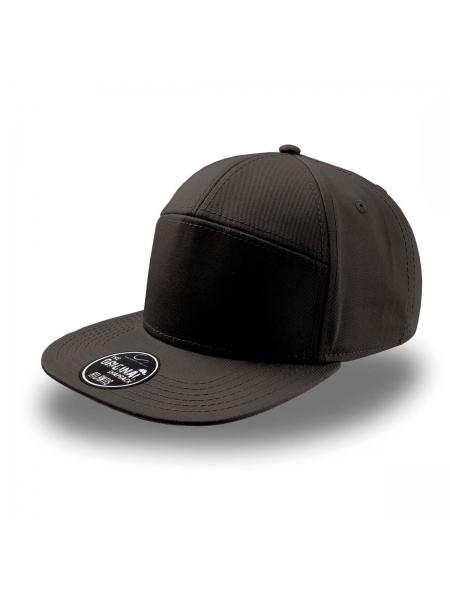 cappellino-deck-a-5-pannelli-con-visiera-piatta-e-chiusura-in-pvc-atlantis-black.jpg