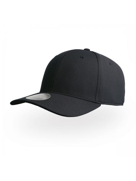 Cappellino Dye Free con adesivo sulla visiera e parasudore in cotone Atlantis