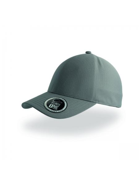 Cappellino Cap One a 1 pannello con adesivo sulla visiera Atlantis