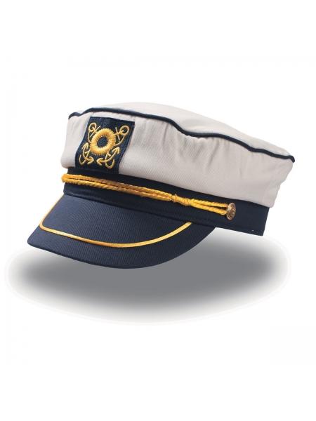 Cappello Captain stile militare pre-ricamato Atlantis