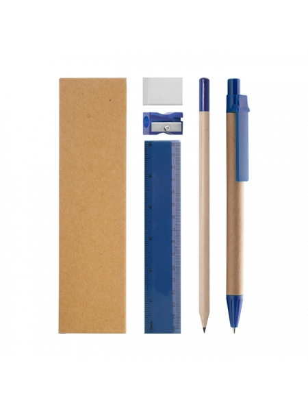 Set  di scrittura 5 pezzi con astuccio in carta naturale
