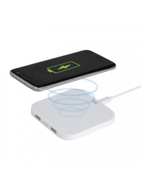 Caricatore wireless 2 uscite USB