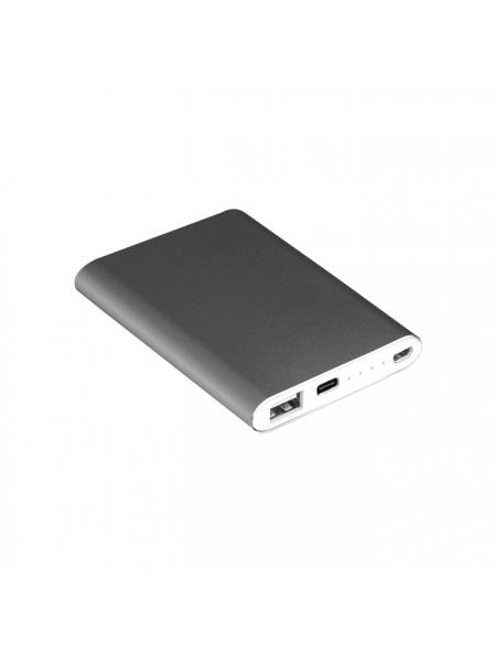 Power Bank 2200 mAh in alluminio cm 6,5x9,5x0,8 cavo non incluso