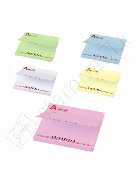 Foglietti adesivi Sticky-Mate cm 7,5x7,5 - 25 fogli carta colorata - stampa full color