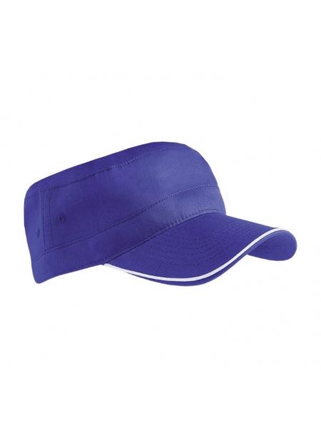 Cappellino in cotone con profilo in contrasto