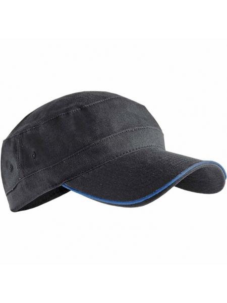 Cappellino in cotone pesante con profilo in contrasto