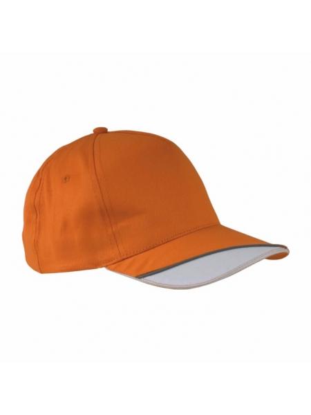 Cappellino in cotone con spicchio bianco su visiera