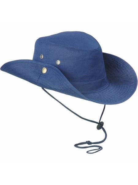 Cappello in poliestere a tesa larga safari con fori di ventilazione