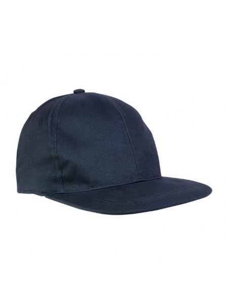 Cappellino in cotone pesante 6 pannelli con visiera dritta