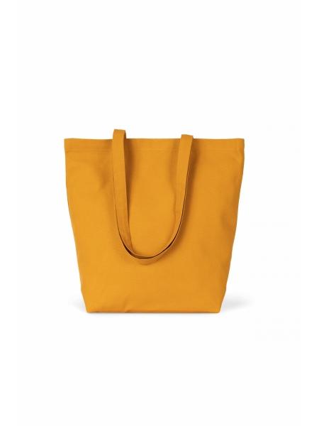 Shopper Ki-Mood in cotone bio, manici lunghi - 40x42x12 - 310 gr