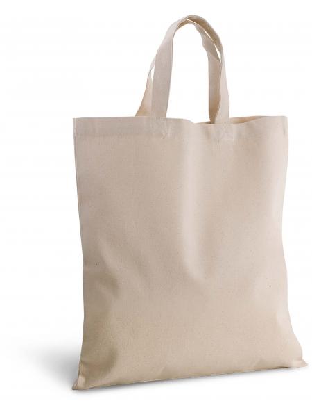 Shopper Ki-Mood in cotone canvas, manici corti  - 38x42 - 310 gr