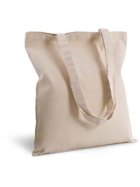 Shopper Ki-Mood in cotone canvas, manici lunghi  - 38x42 - 310 gr