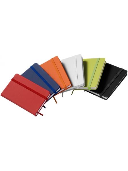 Notebook formato A7 con chiusura a elastico coordinata 60 fogli a righe