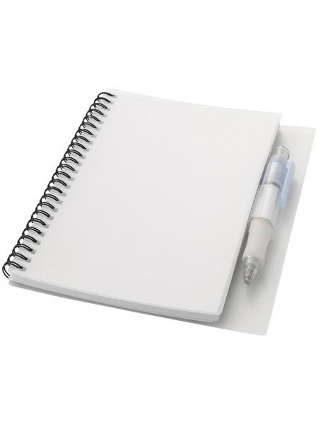 Taccuini ecologici cm.16x21x1 con penna coordinata 80 pagine a righe