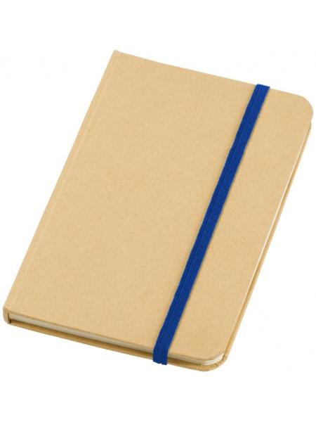 Taccuini notebook A6 cm.9,5x14,5x1,2 colore naturale ed elastico a contrasto