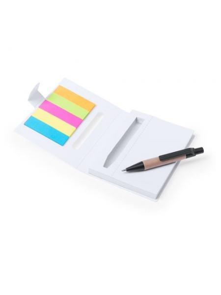 Block notes cm 8x10,5x1,2 in cartone fustellato bianco