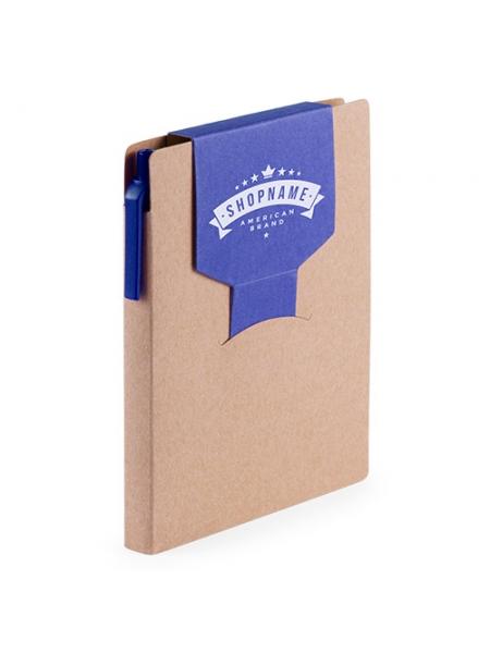 Block notes ecologico cm 10,2x14,2x1,3 in cartone riciclato design bicolore