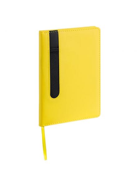 Block notes in pelle PU cm 14x20x1,5 con custodia per penna