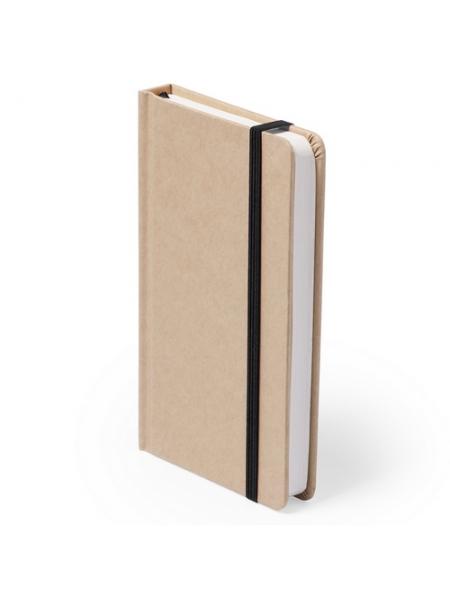 Block notes ecologici cm 9,5x14,5x1,5 con copertina in cartone riciclato